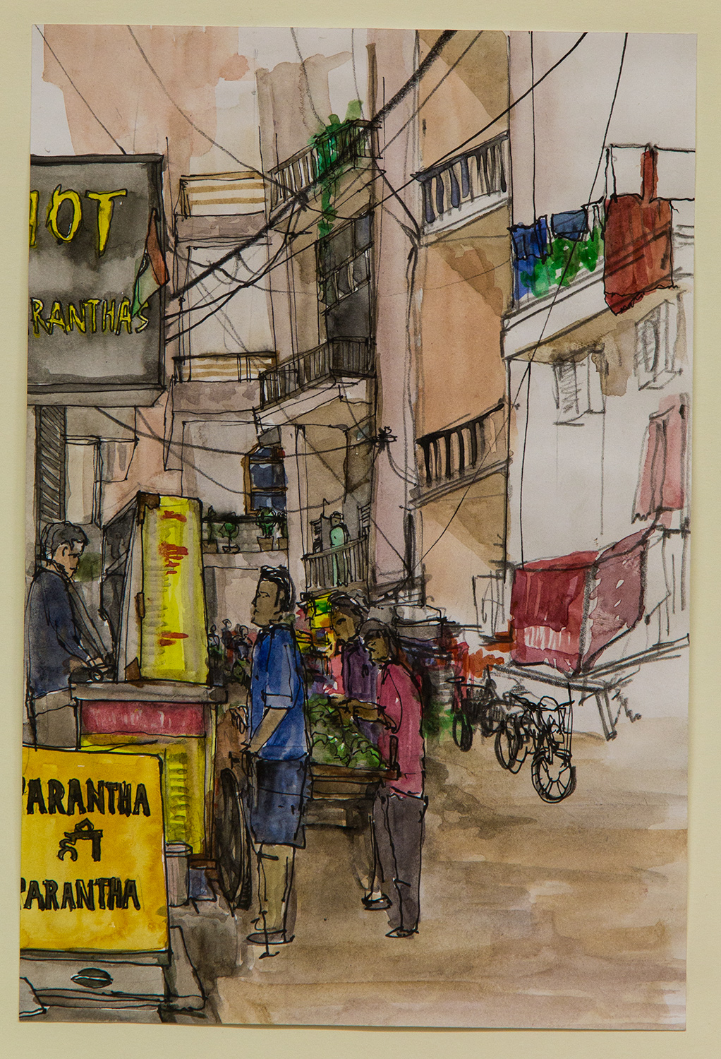 Khirki; 20 x 28 cm; watercolour, ink and coloured pencil on Paper; 2016