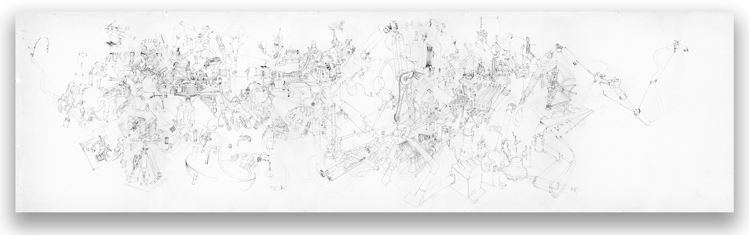 TM550; 550 x 150 cm; pencil drawing; 2010