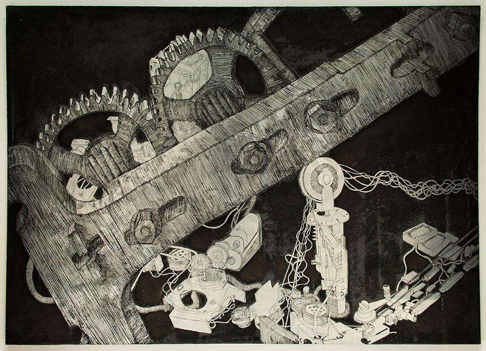 Your Fear of Nostalgia IX; 70 x 100 cm; etched zinc plate; 2015