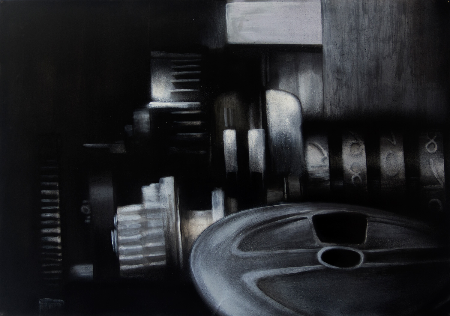 Machine III; 100 x 70 cm; Acrylics on Paper; 2014
