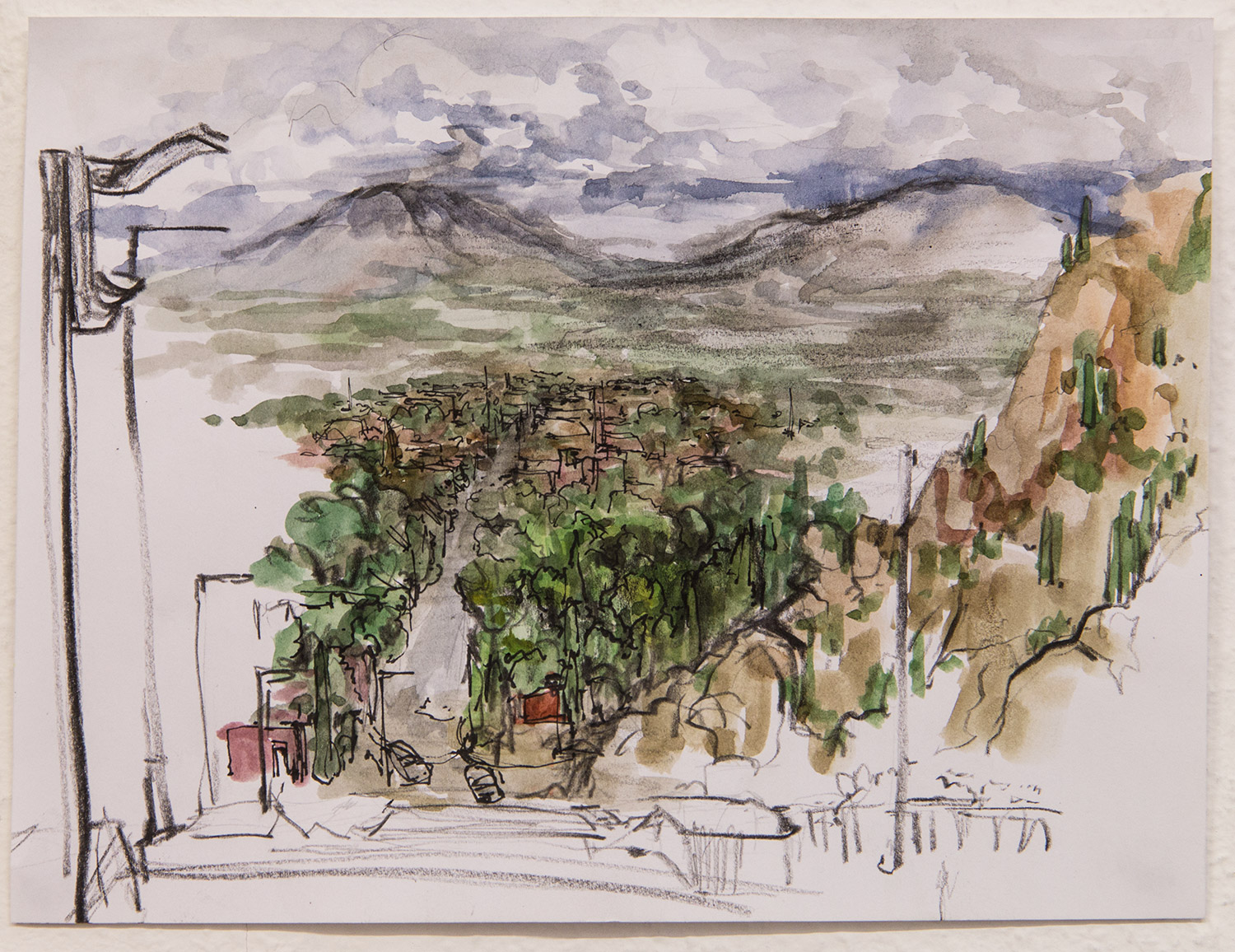 La Rioja - Chilesito; 25 x 19 cm; watercolour, ink and pencil on paper; 2017