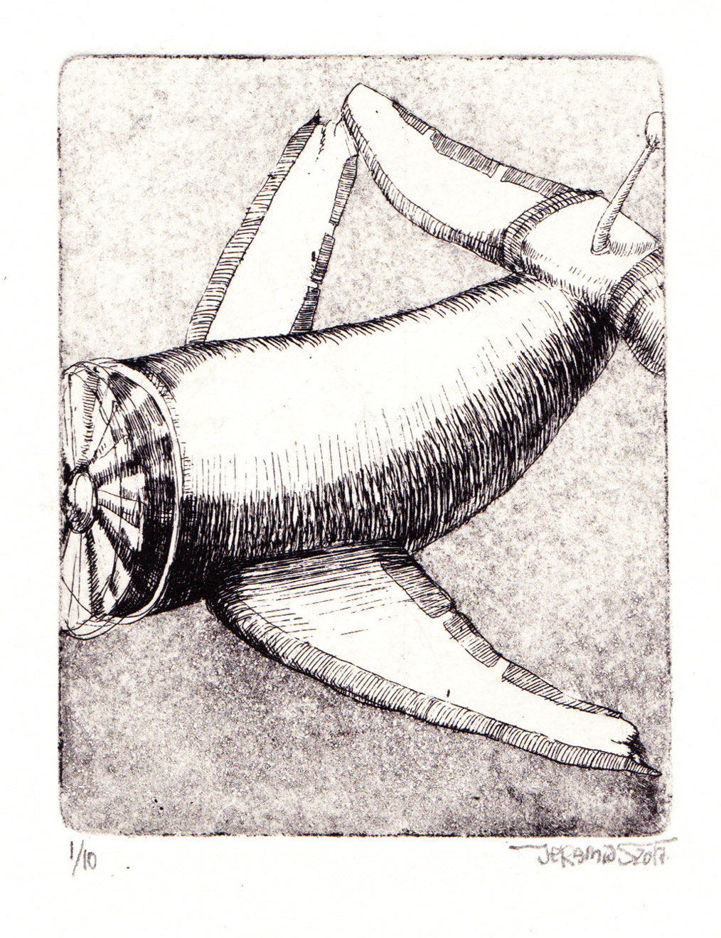 Next Flight; 7,5 x 9,5 cm; etching and aquatint; 2017