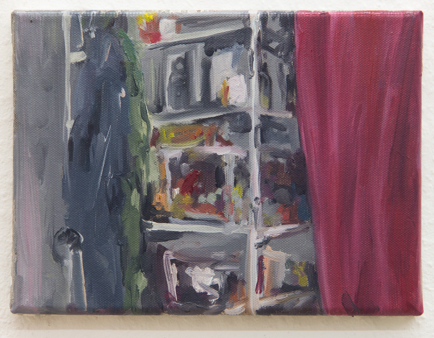 From the Series: My Little Chaos; 24 x 18 cm; oil on canvas; 2017