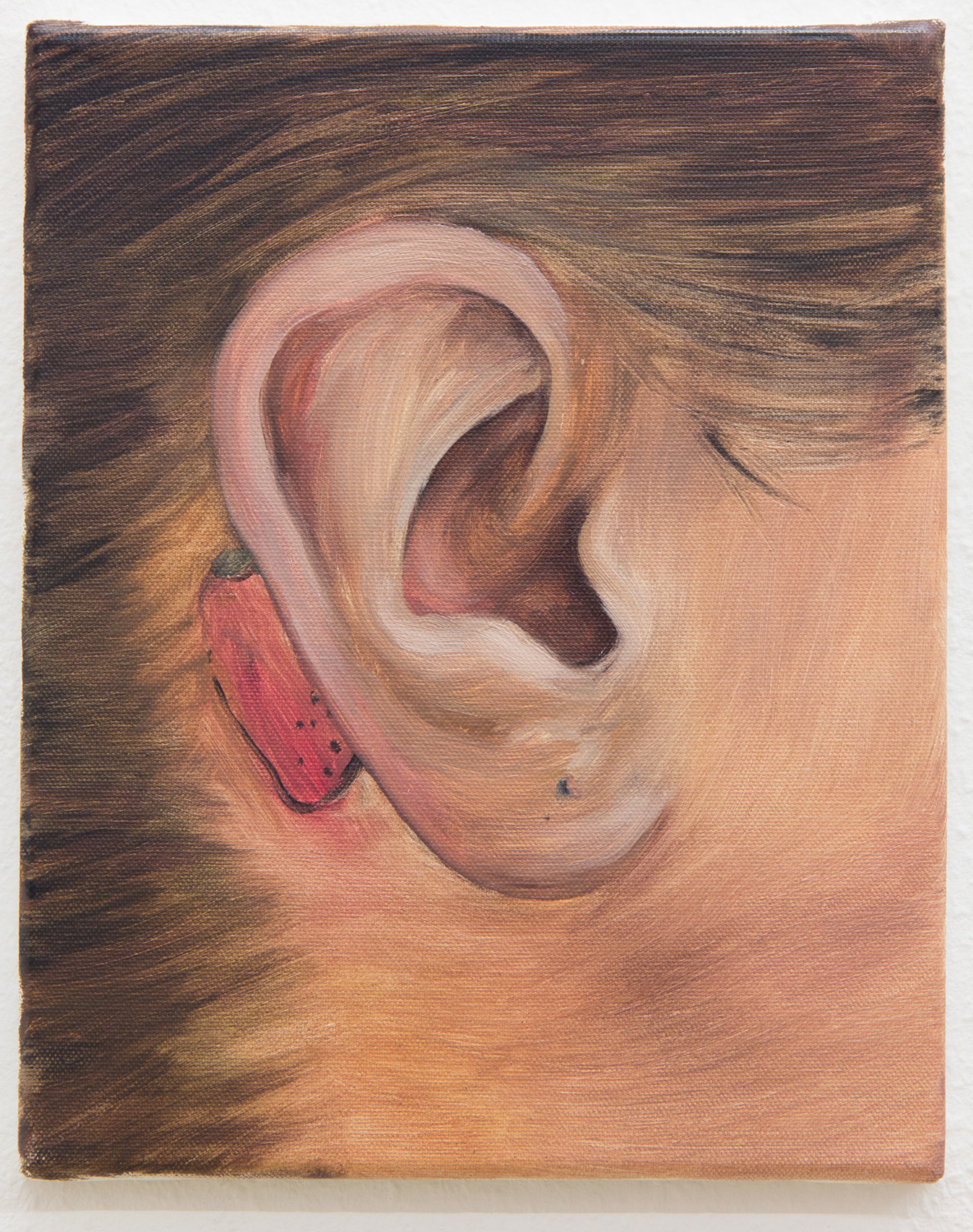 "From the ""Ear Collection""; 24 x 30 cm; oil on canvas; 2017"