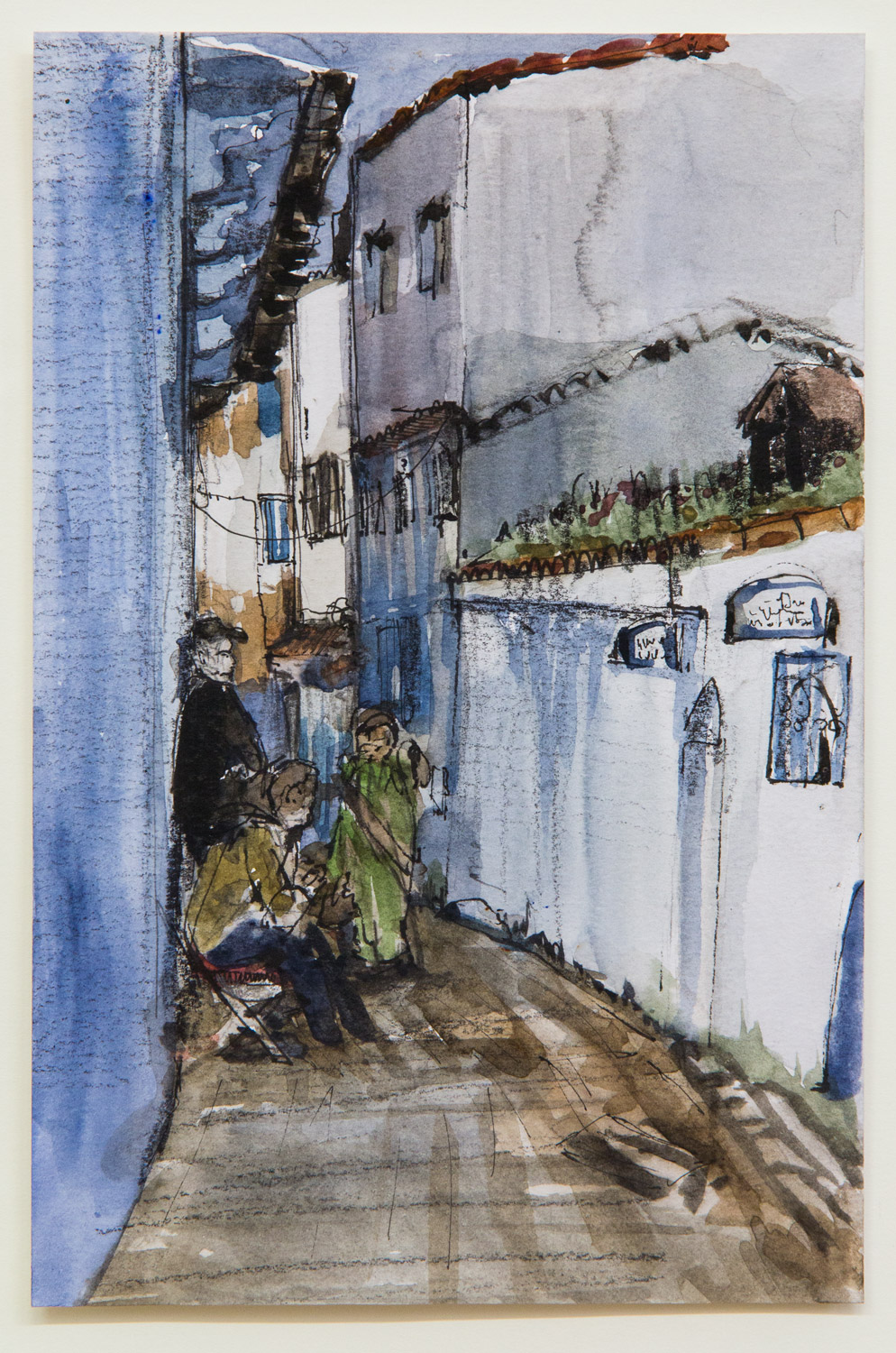 Chefchaouen; 15 x 21 cm; watercolour, ink and pencil on paper; 2018