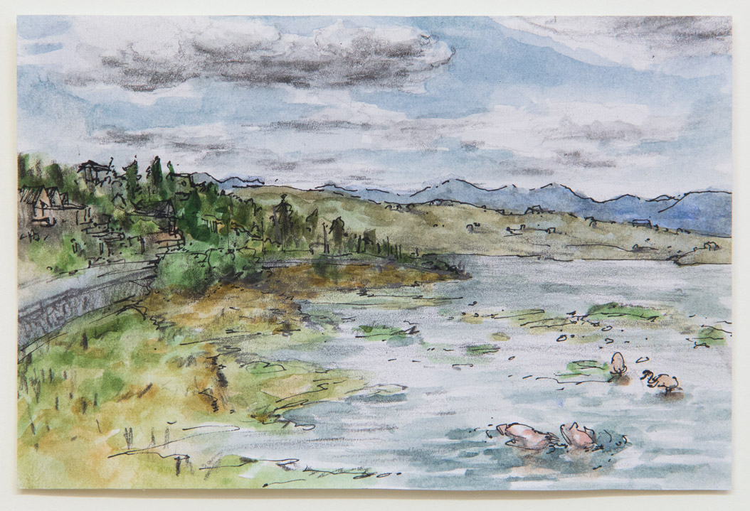 El Calafate; 15 x 10 cm; watercolour, ink and pencil on paper; 2018