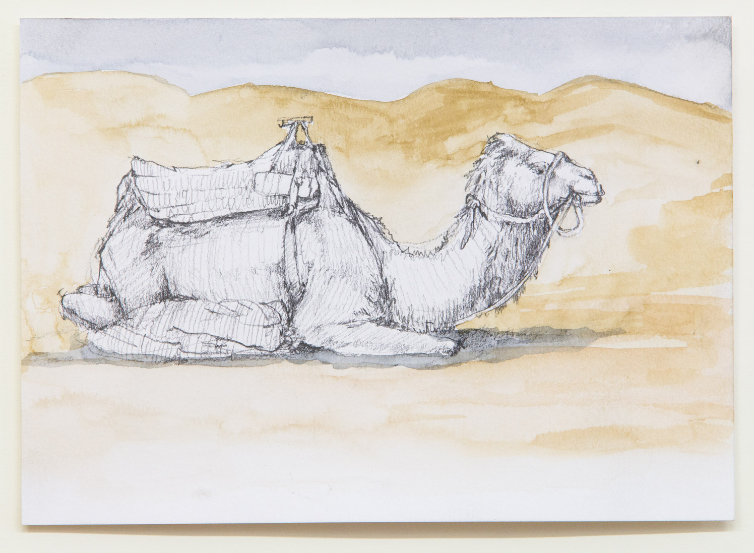 Merzouga; 21 x 15 cm; watercolour and pencil on paper; 2018