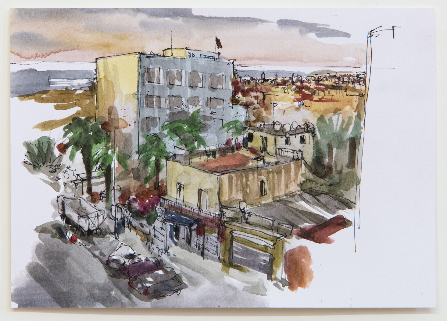 Rabat; 21 x 15 cm; watercolour, ink and pencil on paper; 2018