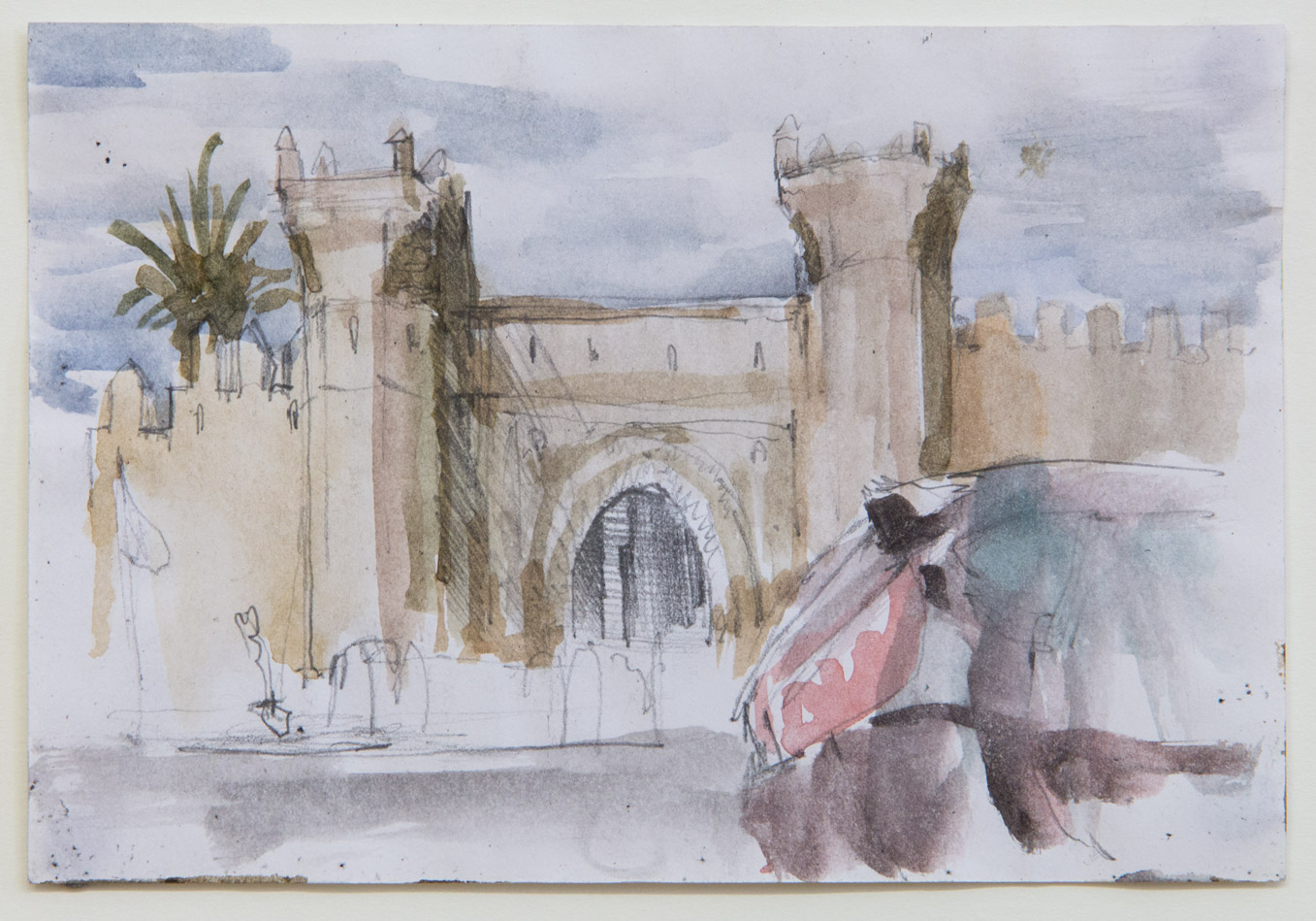 Rabat; 15 x 10 cm; watercolour and pencil on paper; 2018