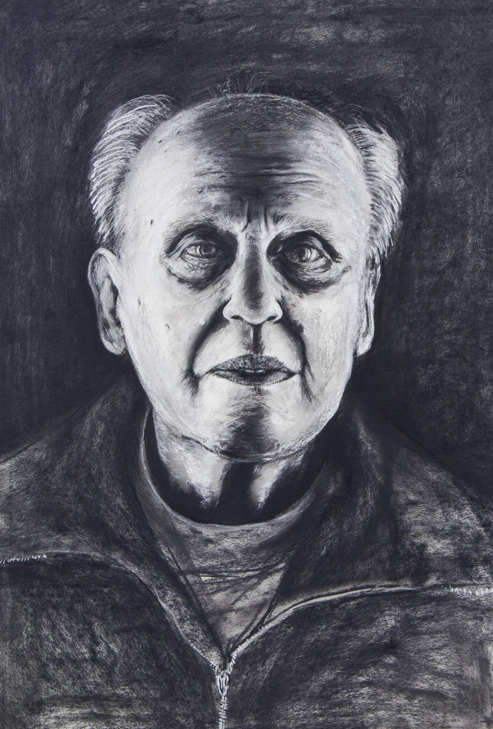 Rudolf Altmann / Grandfather; 76 x 106 cm; charcoal and chalk on paper; 2018