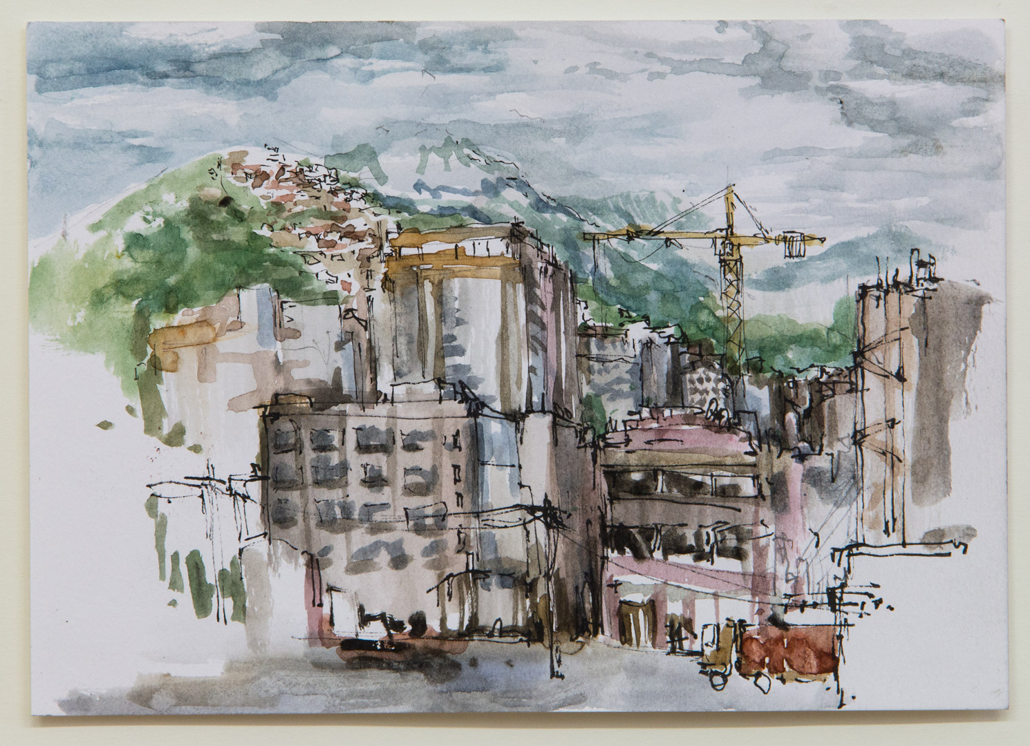 Tetuan; 21 x 15 cm; watercolour, ink and pencil on paper; 2018
