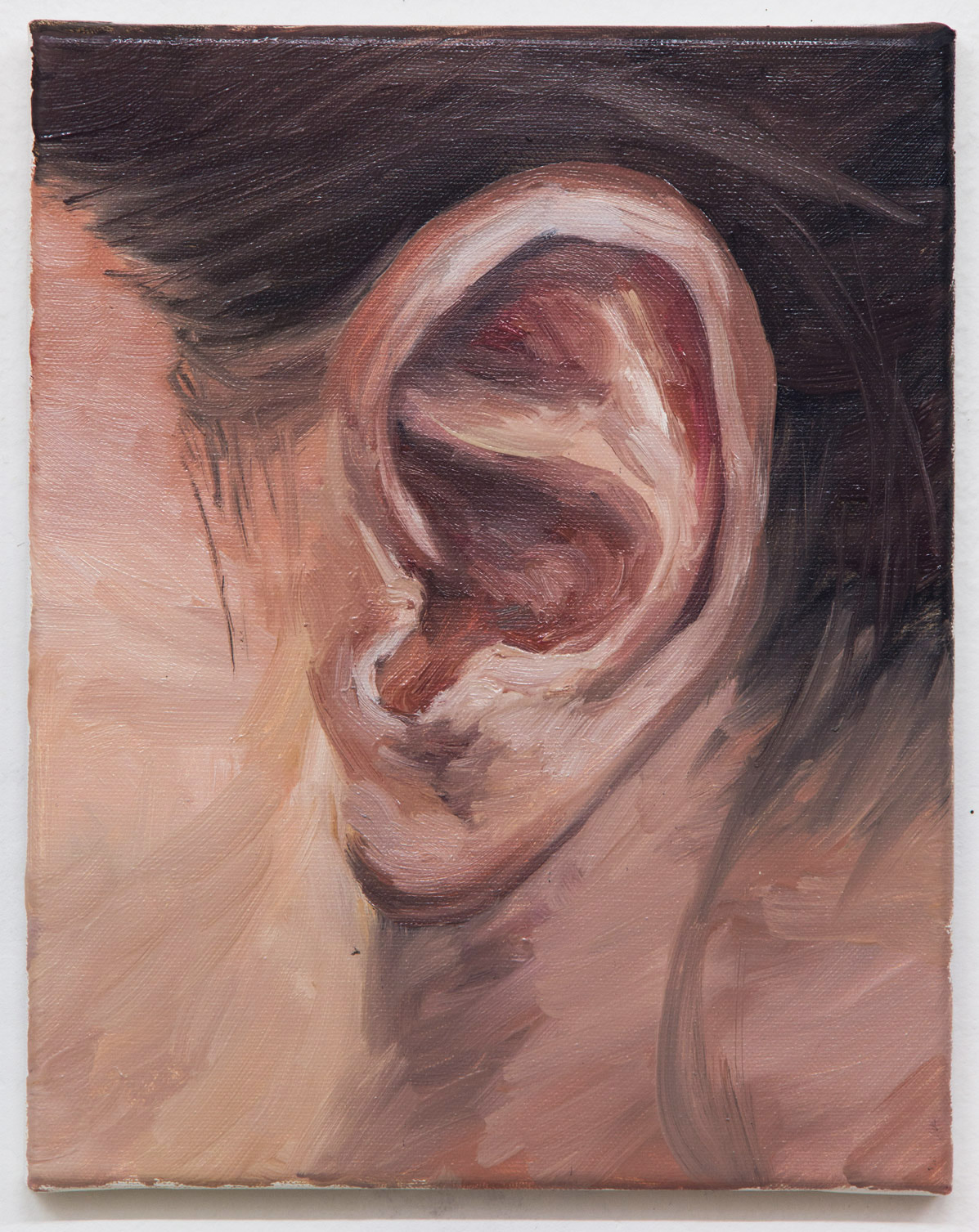 "From the ""Ear Collection""; 24 x 30 cm; oil on canvas; 2018"