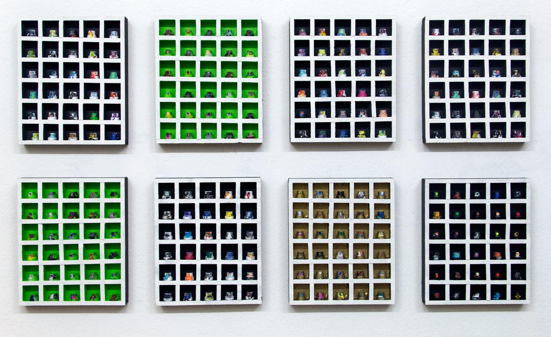 Nozzlebox 3D; 10 boxes; 26 x 31 x 4 cm; 2018