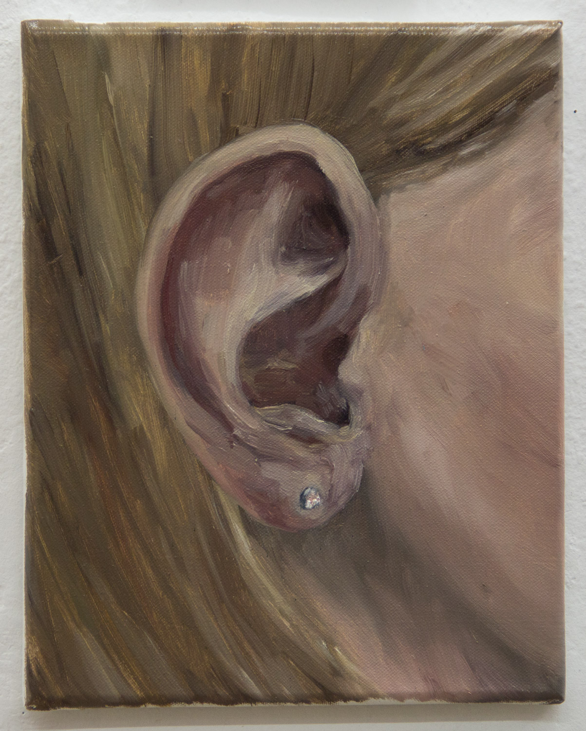 """From the """"Ear Collection""""; 24 x 30 cm; oil on canvas; 2019"""