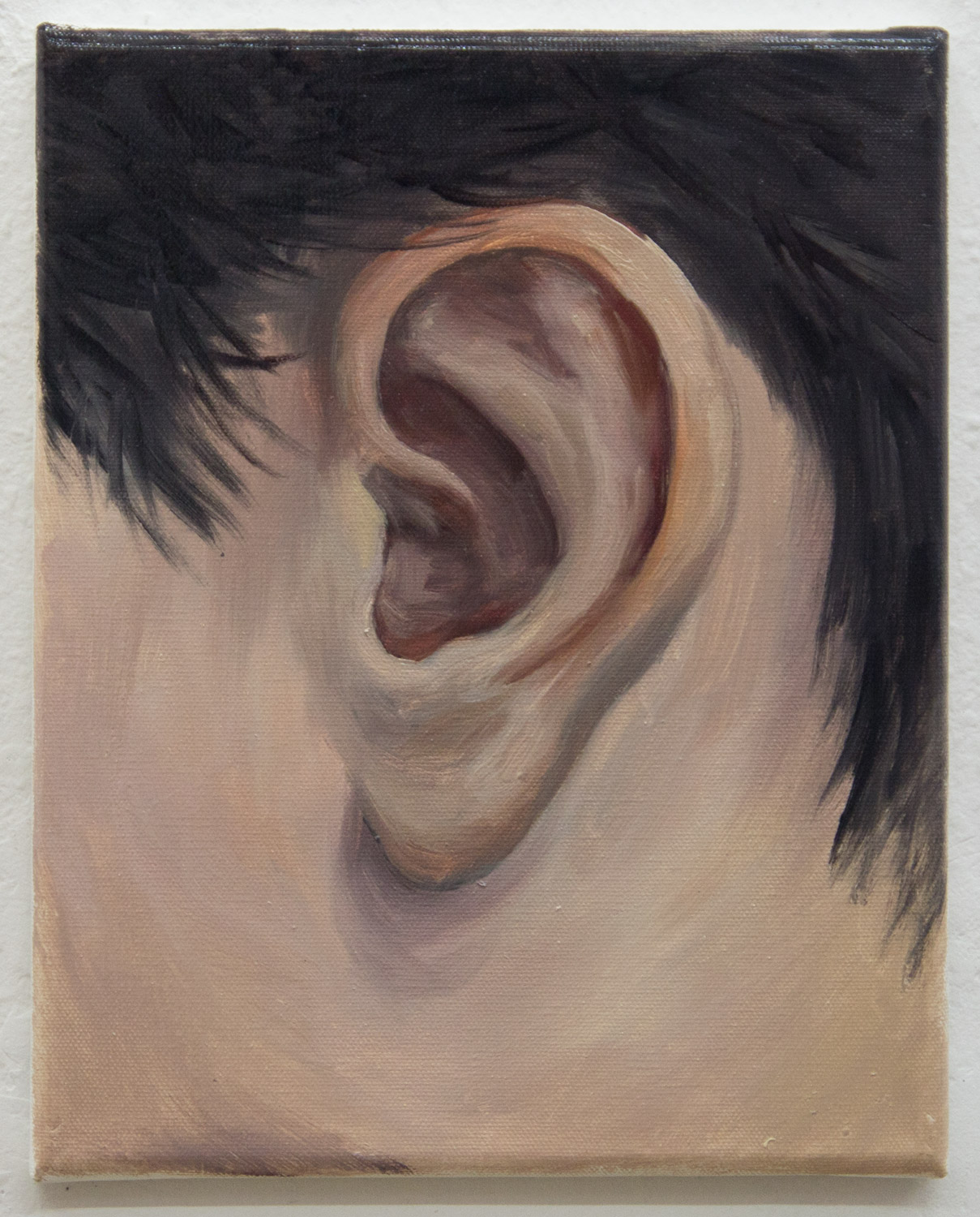 "From the ""Ear Collection""; 24 x 30 cm; oil on canvas; 2019"