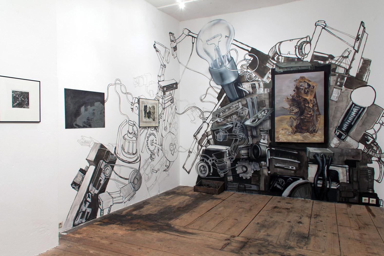 """Installation view - """"Machines019""""."""