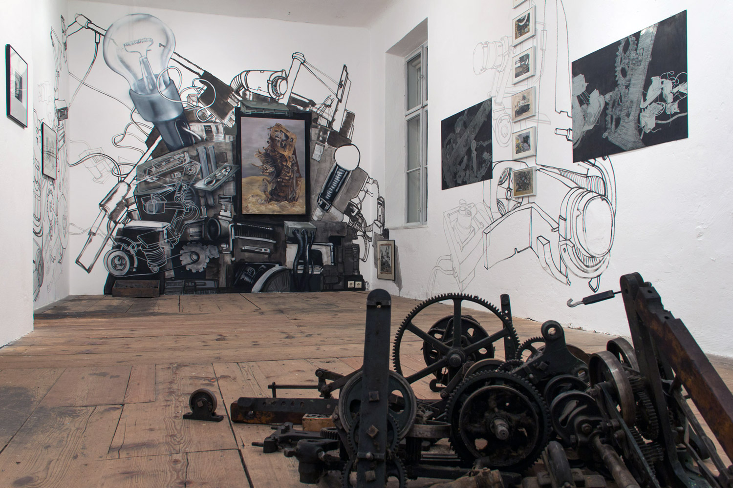 "Installation view - ""Machines019""."