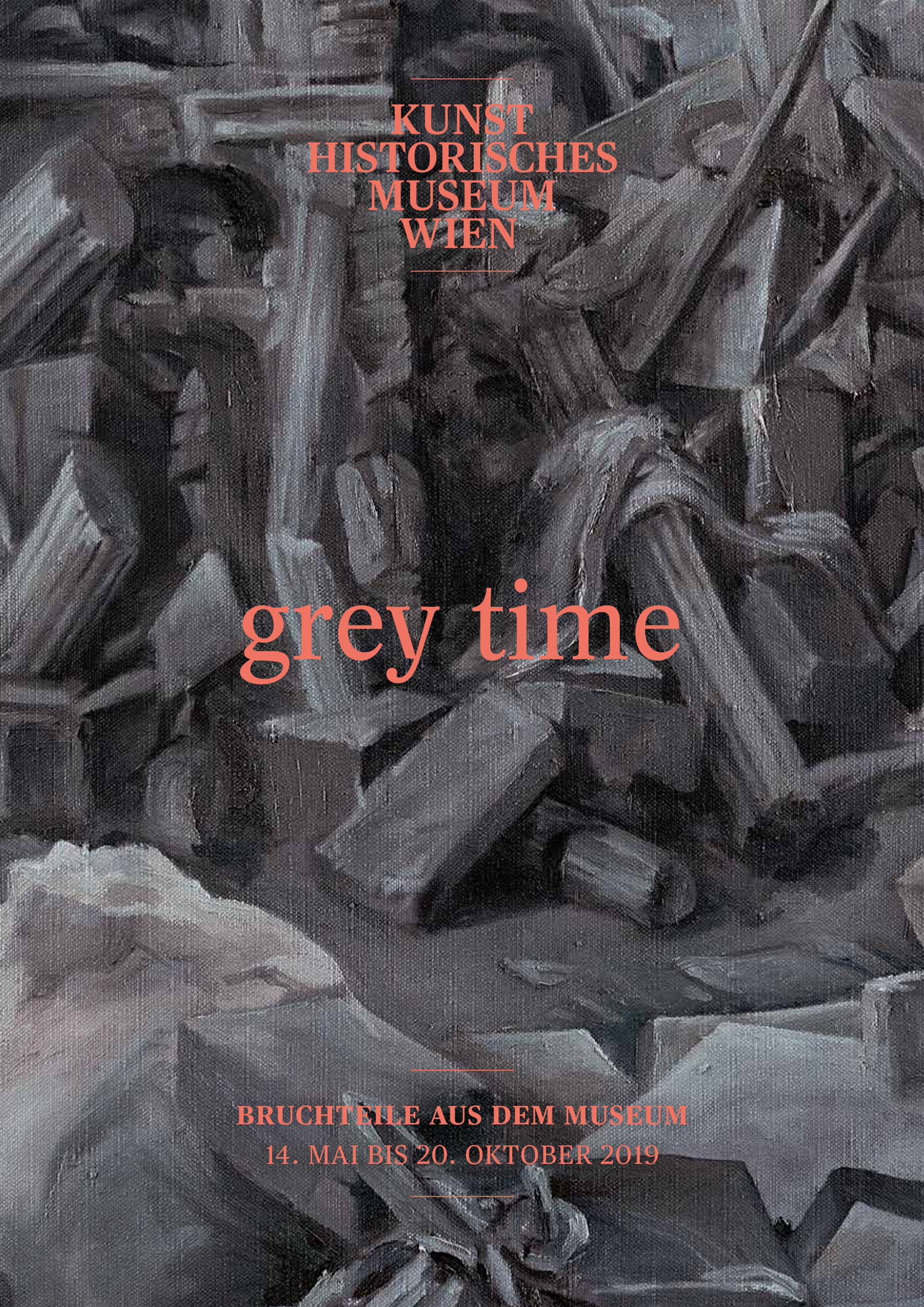 "Opening on the 13th of May at 19:00. From the 14th of May to the 20th of October the exhibition ""grey time - Bruchteile aus dem Museum"" will be shown at the Kunsthistorisches Museum Vienna / Maria-Theresien-Platz, 1010."