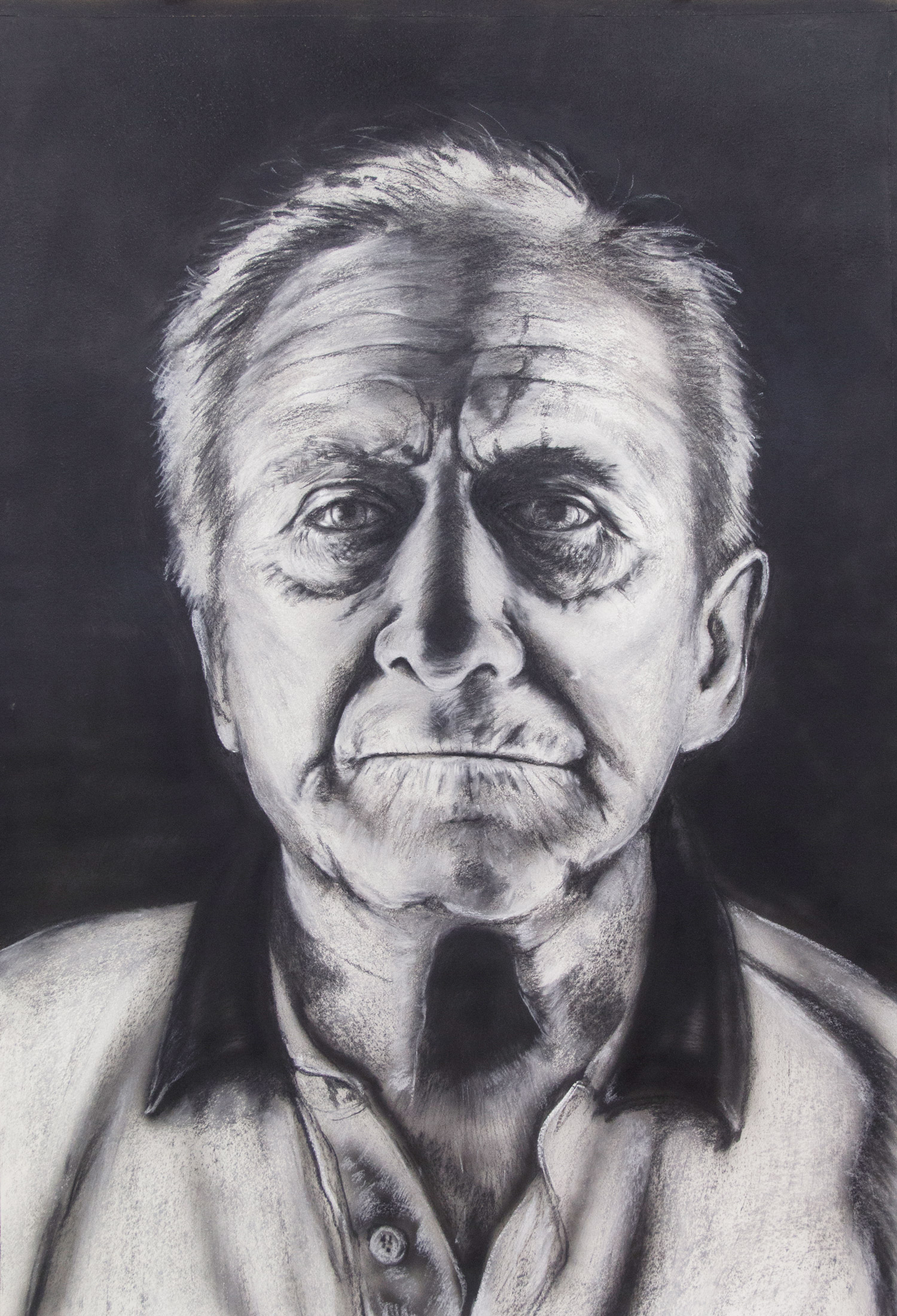 Franz Wagner / Grandfather; 76 x 106 cm; charcoal and chalk on paper; 2018