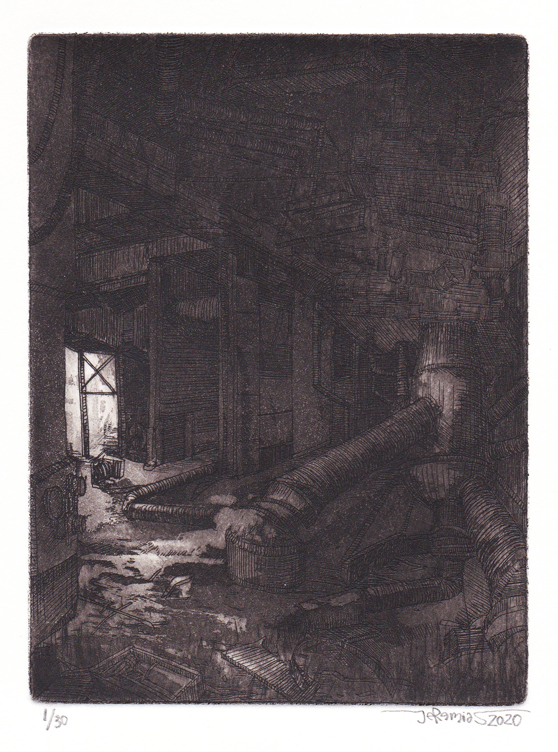 Azote - IN; 11 x 14,5 cm; etching; 2020
