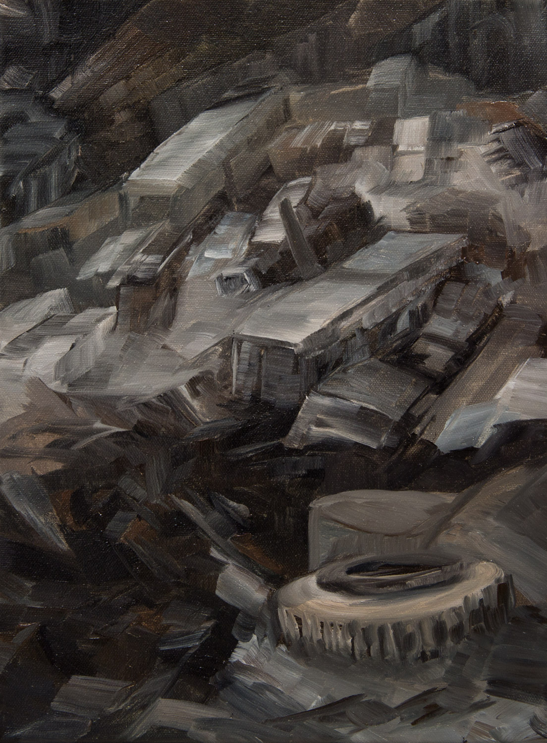 Mines 3; 30 x 40 cm; oil on canvas; 2020