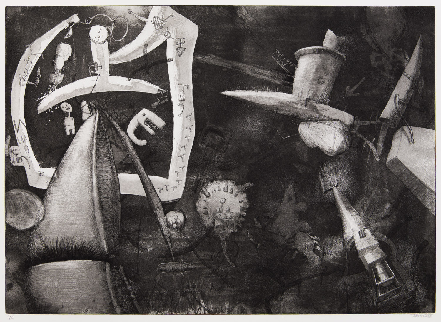 Universals; 70 x 50 cm; etching on etching paper, edition of 12; 2020