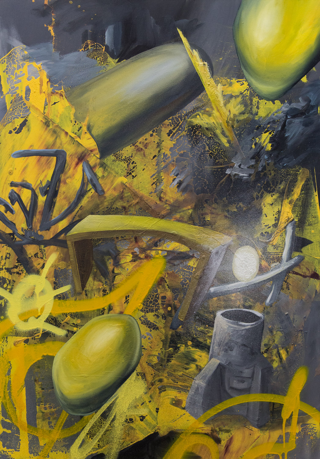 Stove; 70 x 100 cm; acrylics and oil on canvas; 2021
